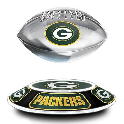 4e4c867b Amazon.com: NFL Green Bay Packers Levitating Football Sculpture ...