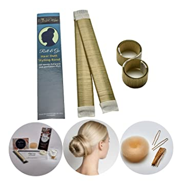 Roll Go Dutt Hilfe Styling Set Von Angel Hair Extensions Inhalt 2 Stuck Premium Qualitat Hair Bun Dutt Maker 1 Donut Duttkissen Haargummis