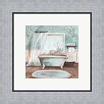 Amazon.com: Aqua Blossom Bath II by Tre Sorelle Studios Framed Art on barney and friends home, the wiggles home, kathy ireland home, baby einstein home, eddie bauer home, loving family home, dillard's home, warner bros. home, eileen fisher home, disney home, the simpsons home, laugh and learn home, sesame street home, sherry kline home,