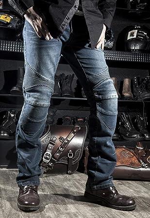 Komine - Jeans con protecciones homologadas para moto y ...