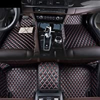 for Toyota Hilux 2009-2010 Custom Car Floor Mats Luxury XPE Leather Full Surrounded Protection Waterproof Anti-Slip Car mat Carpet Interior Liners Accessories Black and Red