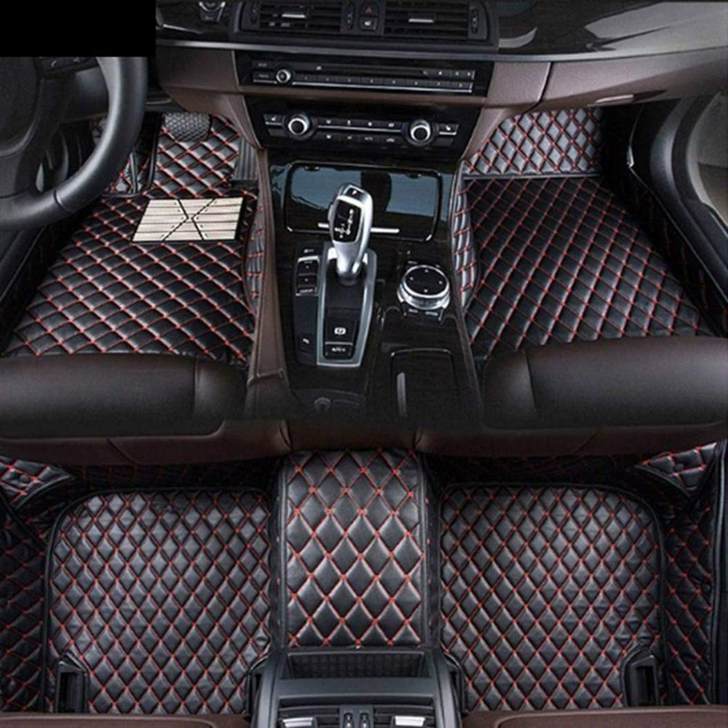 Custom Car Floor Mats for Land Rover Range-Rover-evoque 2-Door 2012-2015 Full Surrounded Waterproof Anti-Slip All Weather Protection Leather Material Car mat Carpet Liners Interior Accessories Black