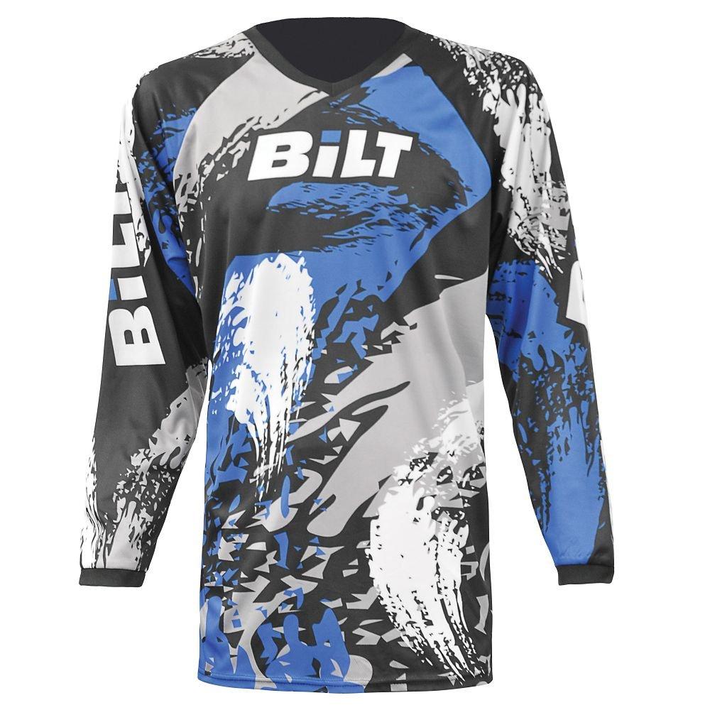 Black//Blue LG BILT Kids Amped Off-Road Motorcycle Jersey