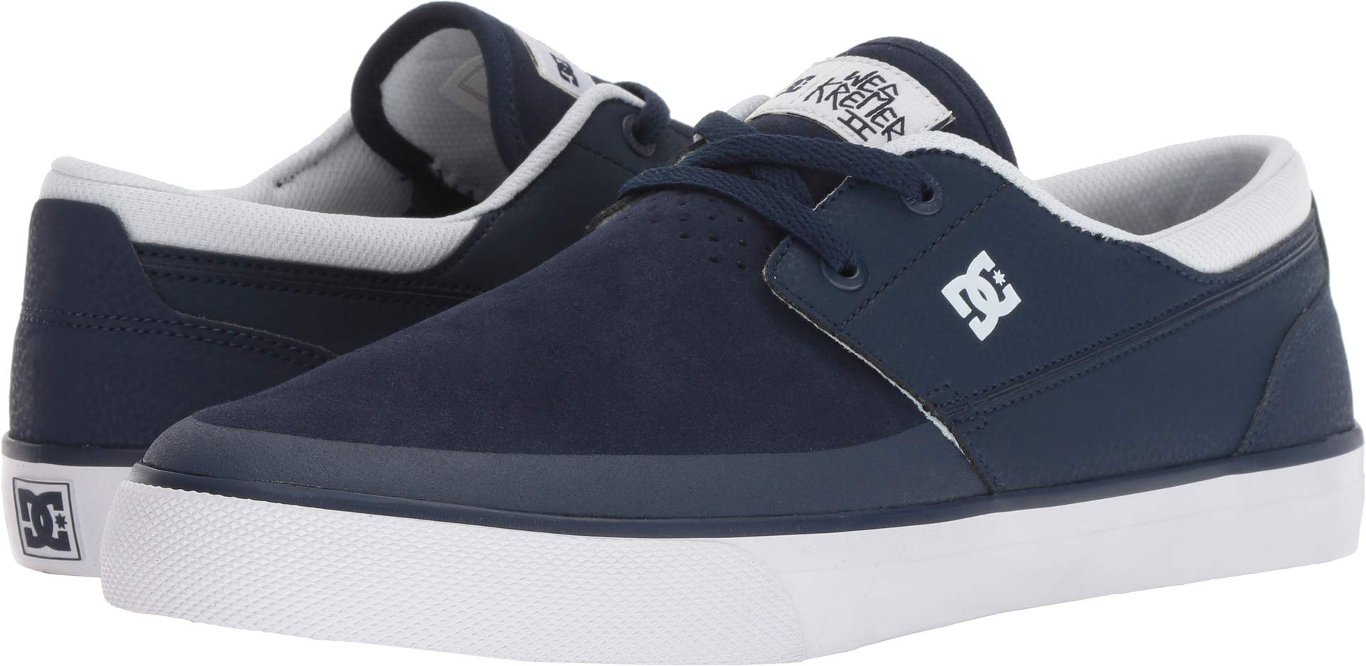 DC Mens Wes Kremer 2 S Shoes, Navy White, 11.5D