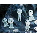 5 Pcs Forest spirit Princess Mononoke Tree Elves Spirit Potted Decoration Micro Landscape Accessories