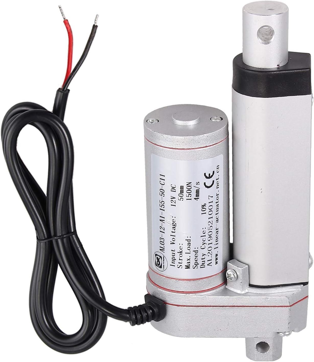 AUTOUTLET Motor de actuador lineal DC 12V 1500N para el abrepuertas eléctrico del auto RV del coche