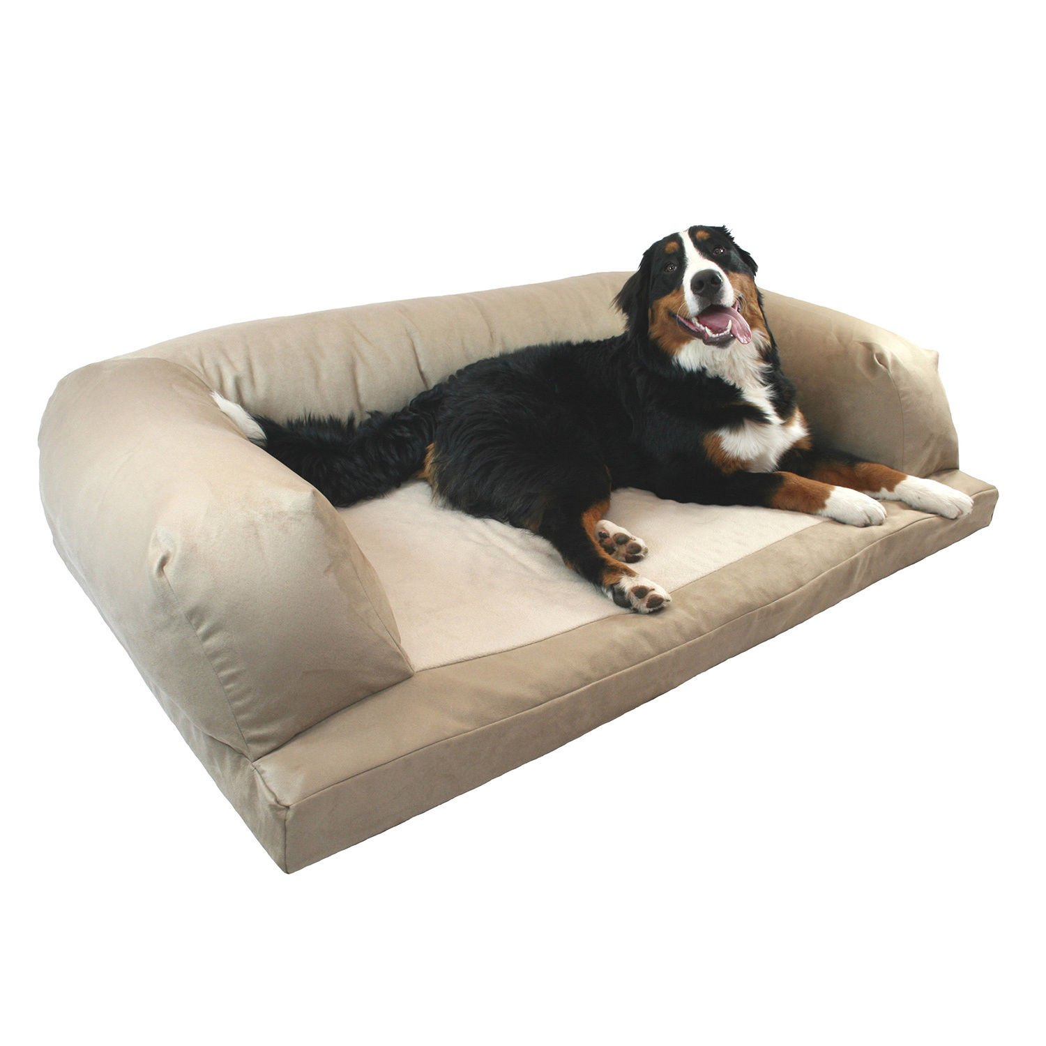 Extra large orthopedic dog beds best price - Amazon Com Dog Bed And Couch Extra Large Tan Baxter Orthopedic Foam Oversized Luxurious Comfort Guaranteed By Hidden Valley Pet Supplies