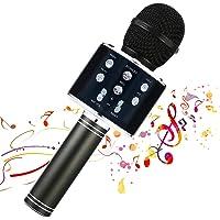 Micrófono inalámbrico Karaok, 4 en 1 máquina portátil de karaoke con altavoz portátil Bluetooth, reproductor KTV…