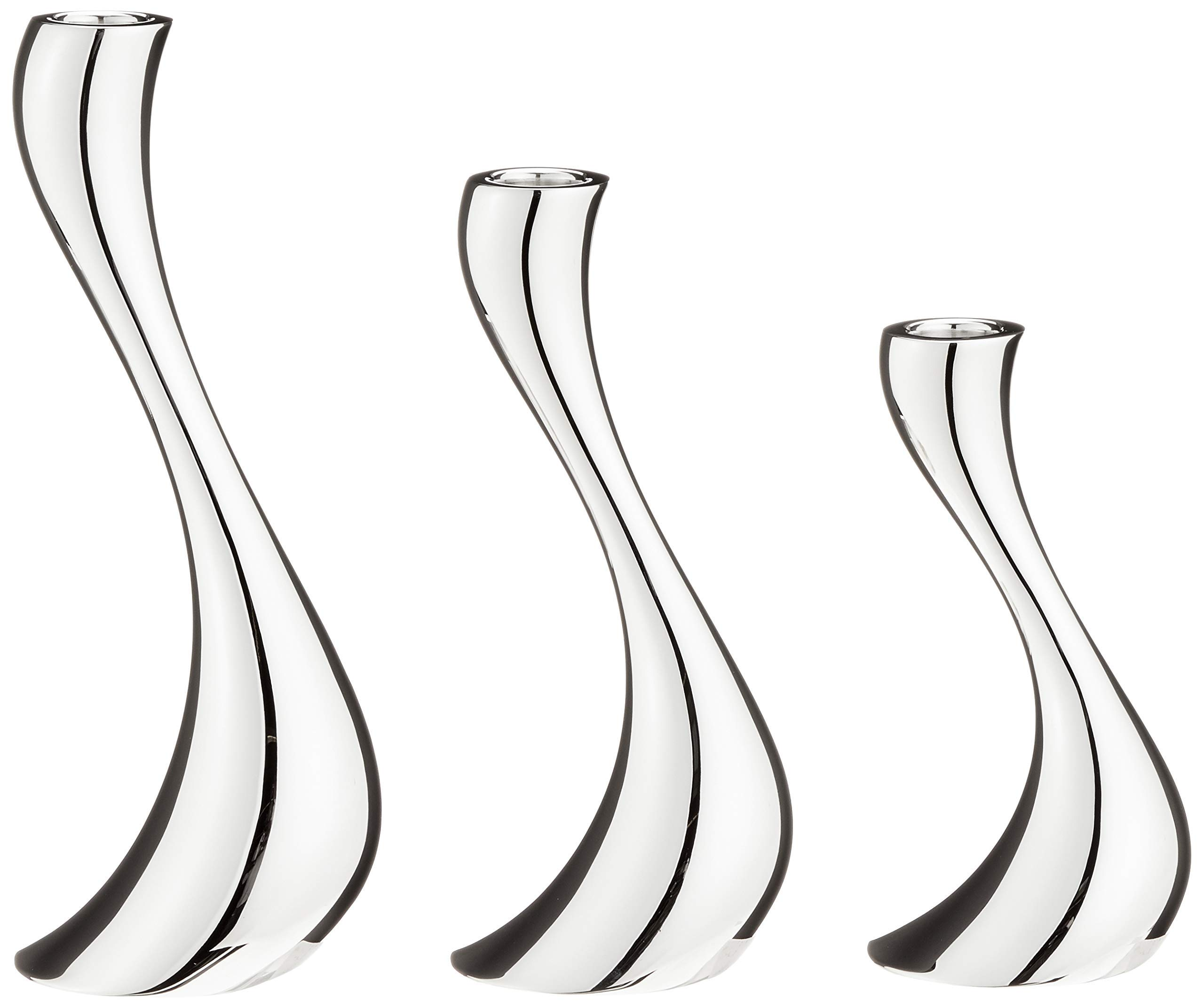 Georg Jensen Cobra Candleholders - 3 Pieces