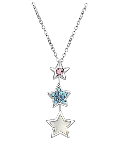79ee11266efd38 Buy NEVI Star Fashion Crystals from Swarovski Rhodium Plated Collar Pendant  Chain Jewellery for Women   Girls (Pink