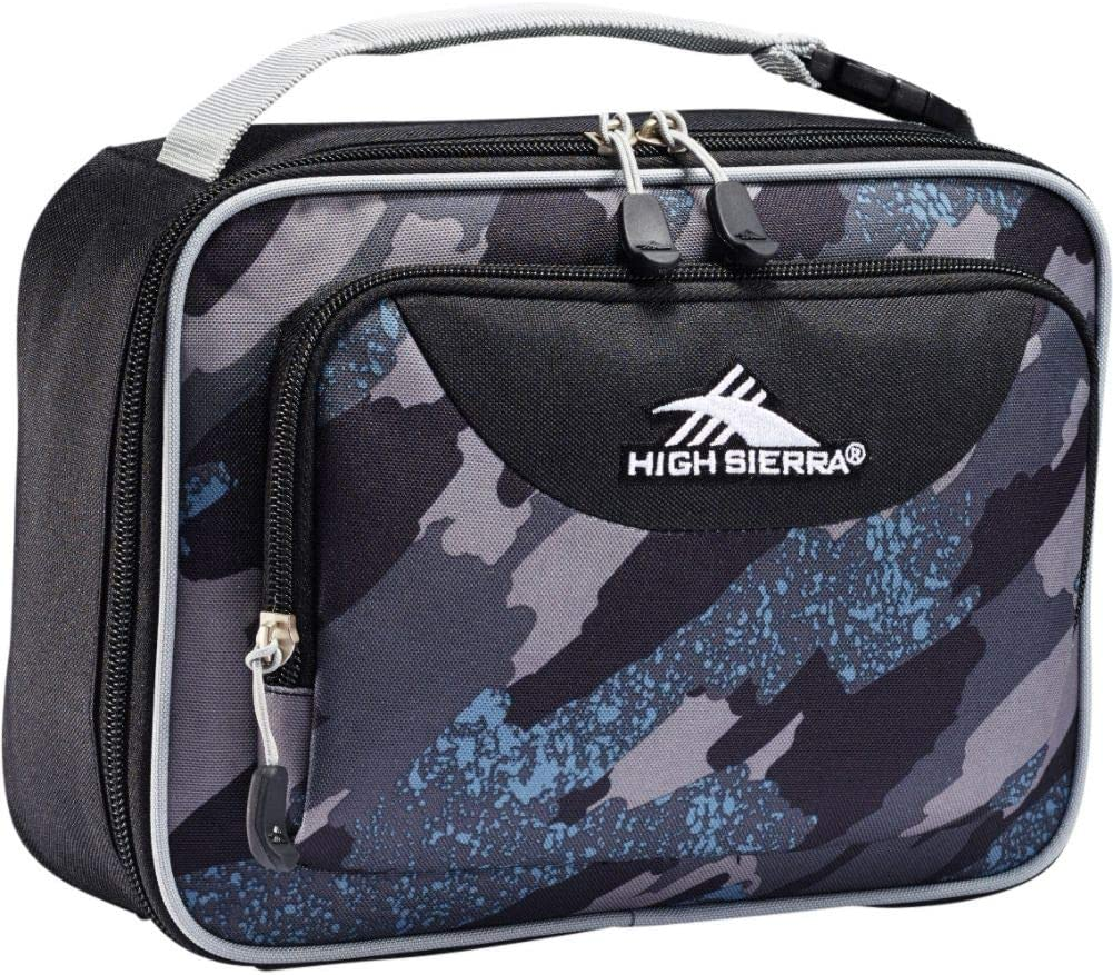 High Sierra Single Compartment Lunch Bag, One Size, Graffiti/Black/Ash