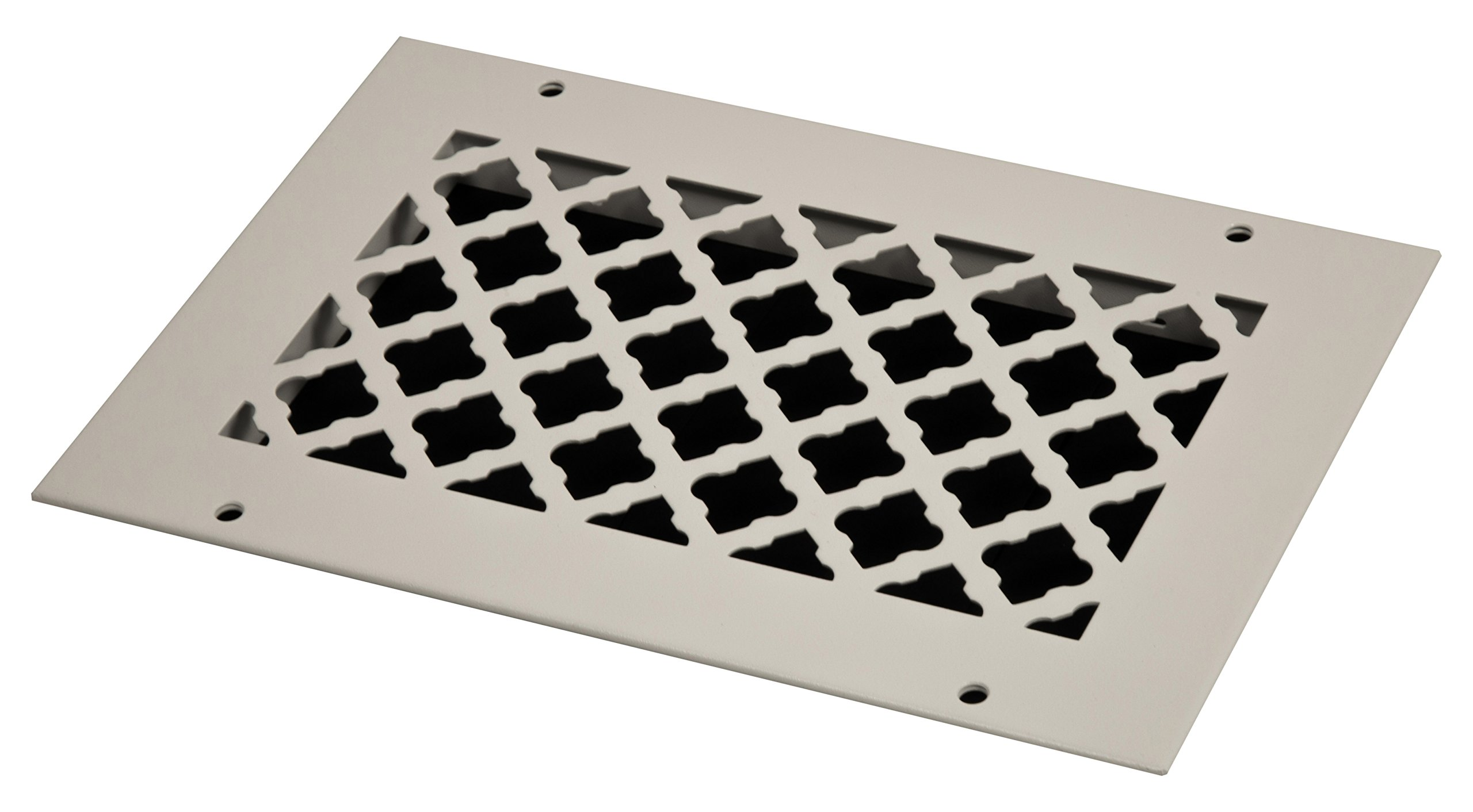 SteelCrest BTU10X6RWHH Bronze Series Designer Wall/Ceiling Vent Cover, with Mounting Screws, White