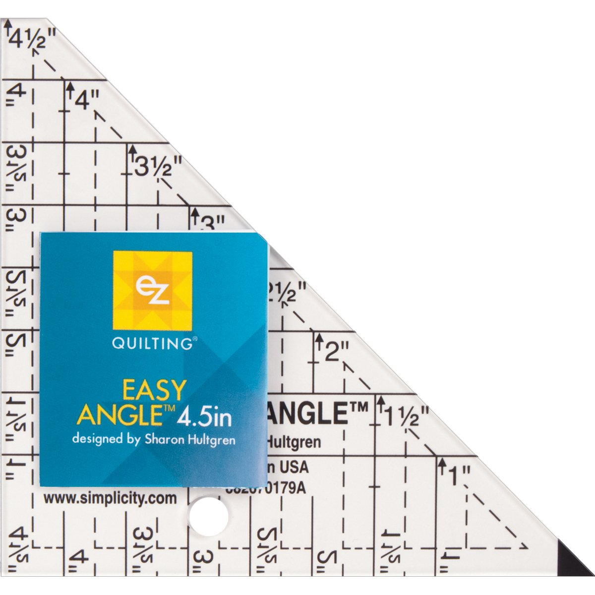 EZ Quilting 4.5-inch Easy Angle Acrylic Template Simplicity 670179