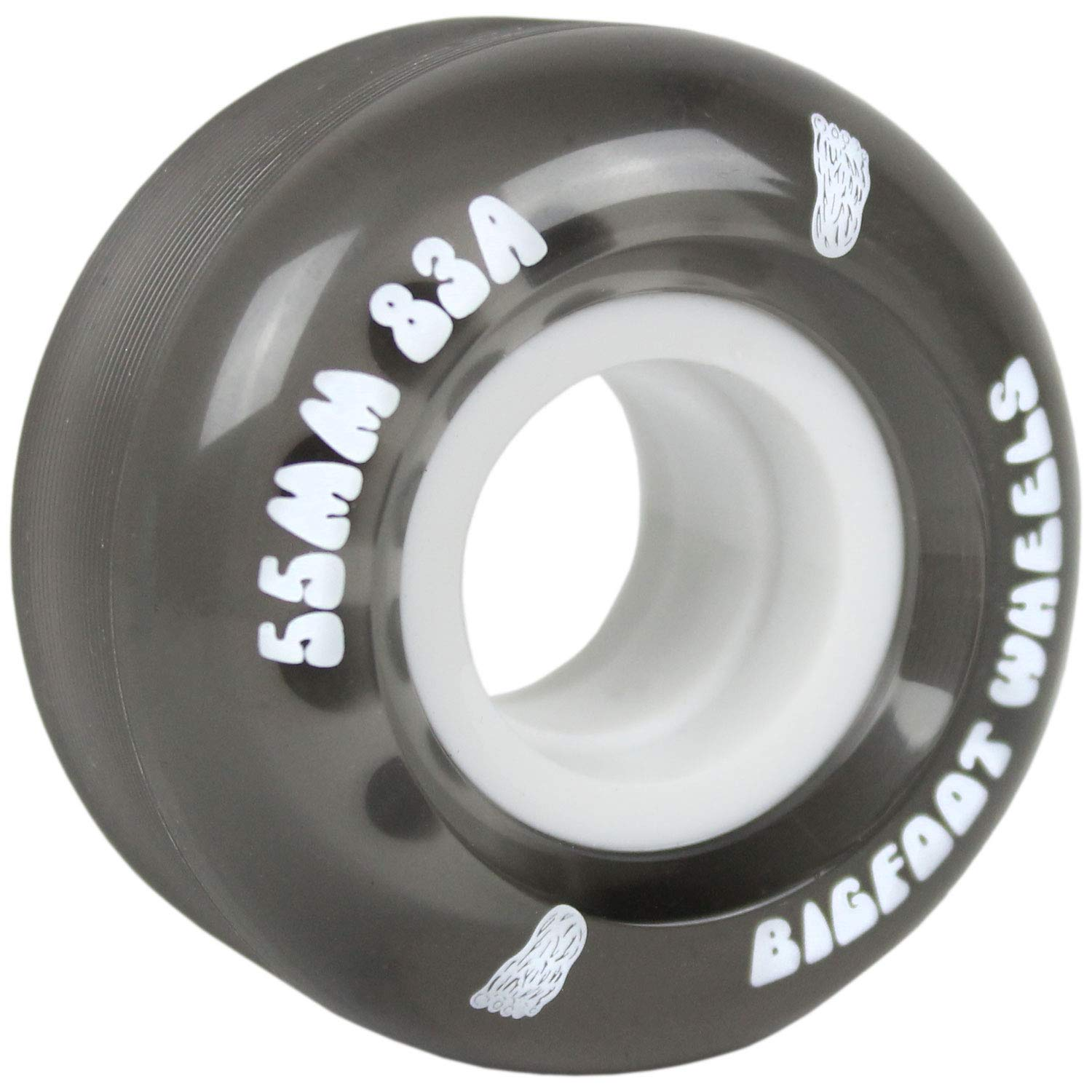 Bigfoot Wheels Skateboard Wheels 53mm 83A Soft Cruiser Filmer Wheels Black (Set of 4) by Bigfoot Wheels