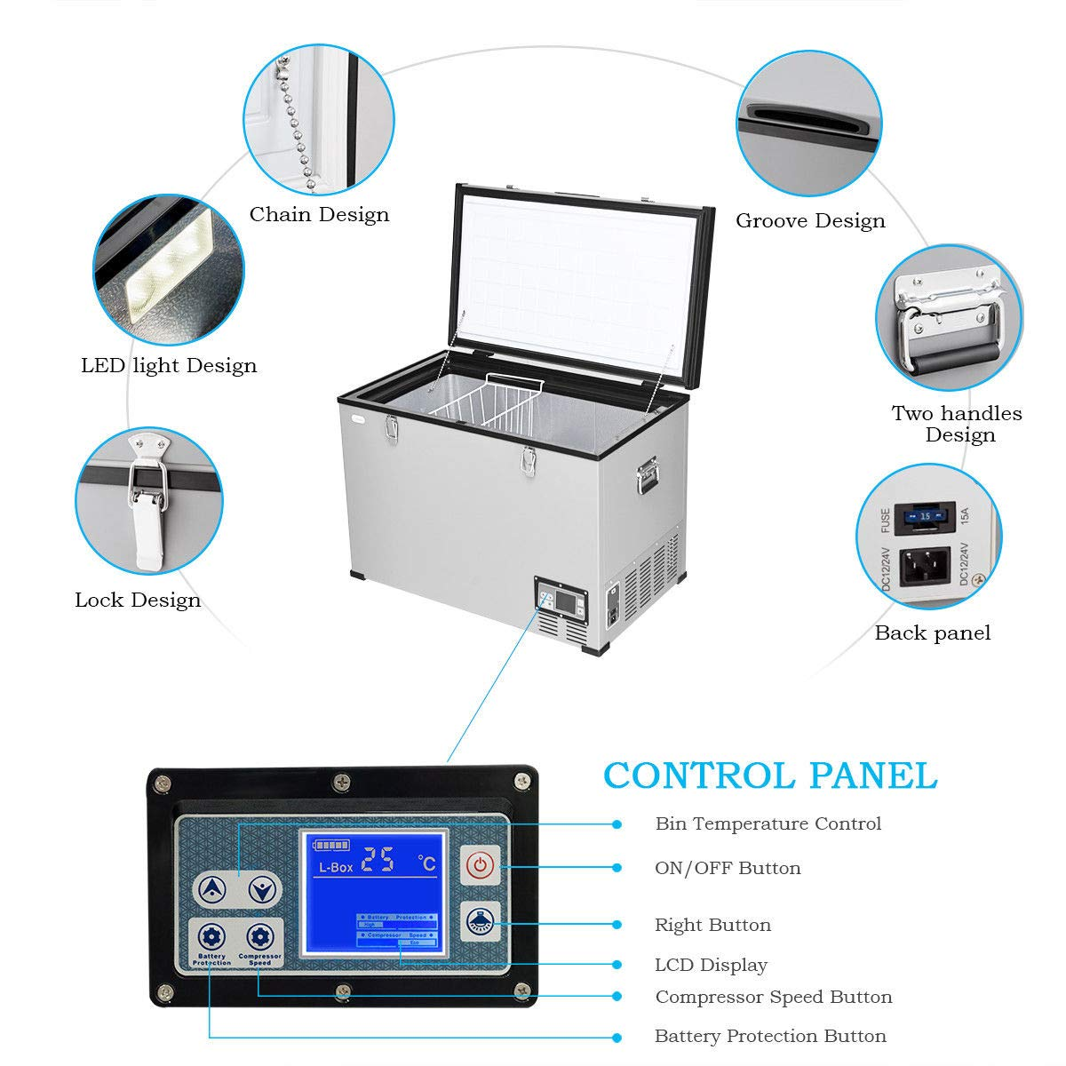 Amazon.com: Compresor de frigorífico eléctrico portátil de ...