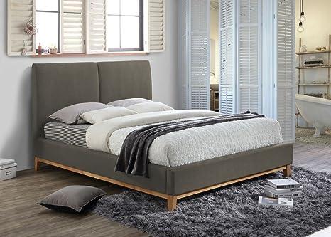Camera Da Letto Grigio Chiaro : Happy beds helsinki classic letto in tessuto grigio chiaro telaio