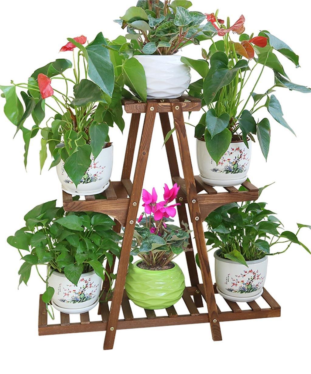 LB huajia ZHANWEI Massivholz Blumen Racks Boden Blumentöpfe Regal Balkon Wohnzimmer Sukkulenten Pflanze Stand