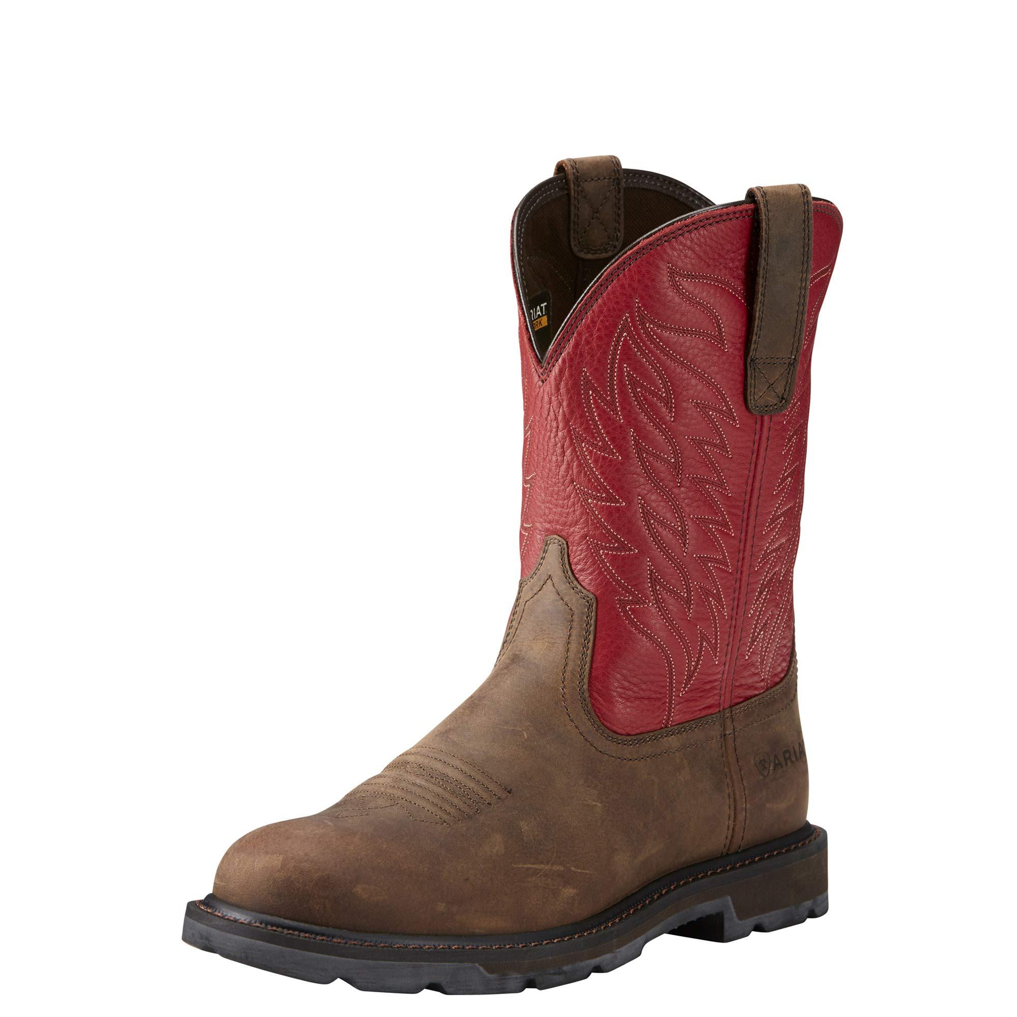 ARIAT Men's Groundbreaker Work Boot Red Size 11 M Us