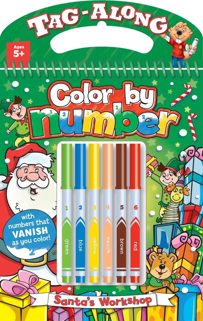 Tag-Along Color-by-Number: Santa\'s Workshop: Beaver Books ...