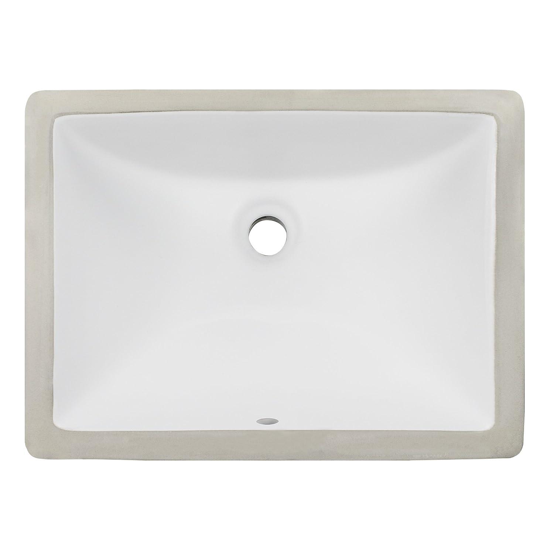 85 Off Ticor 18 Square White Porcelain Undermount Bathroom Vanity Sink Ceramic New Www