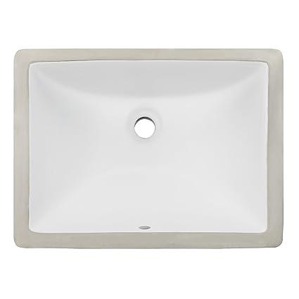 Ticor 18u0026quot; Square White Porcelain Undermount Bathroom Vanity Sink  Ceramic NEW
