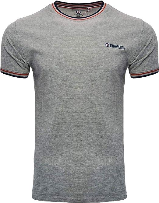 Lambretta Tipped Pique tee Camiseta para Hombre: Amazon.es: Ropa y accesorios