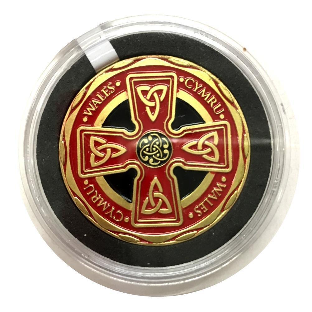 Pendragon Cymru Pays de Galles Croix Celtique Couleur Collectible pièce de Monnaie [Wn258] Unknown