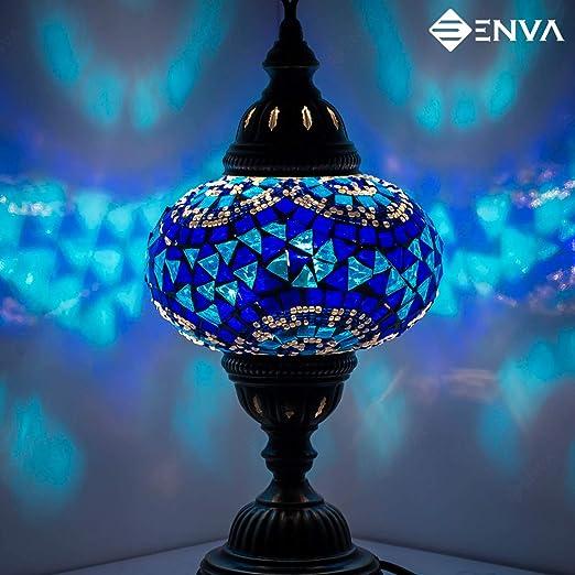 TURC style marocain Mosaïque Multicolore Lampe de bureau Lampe de table lumière grand globe