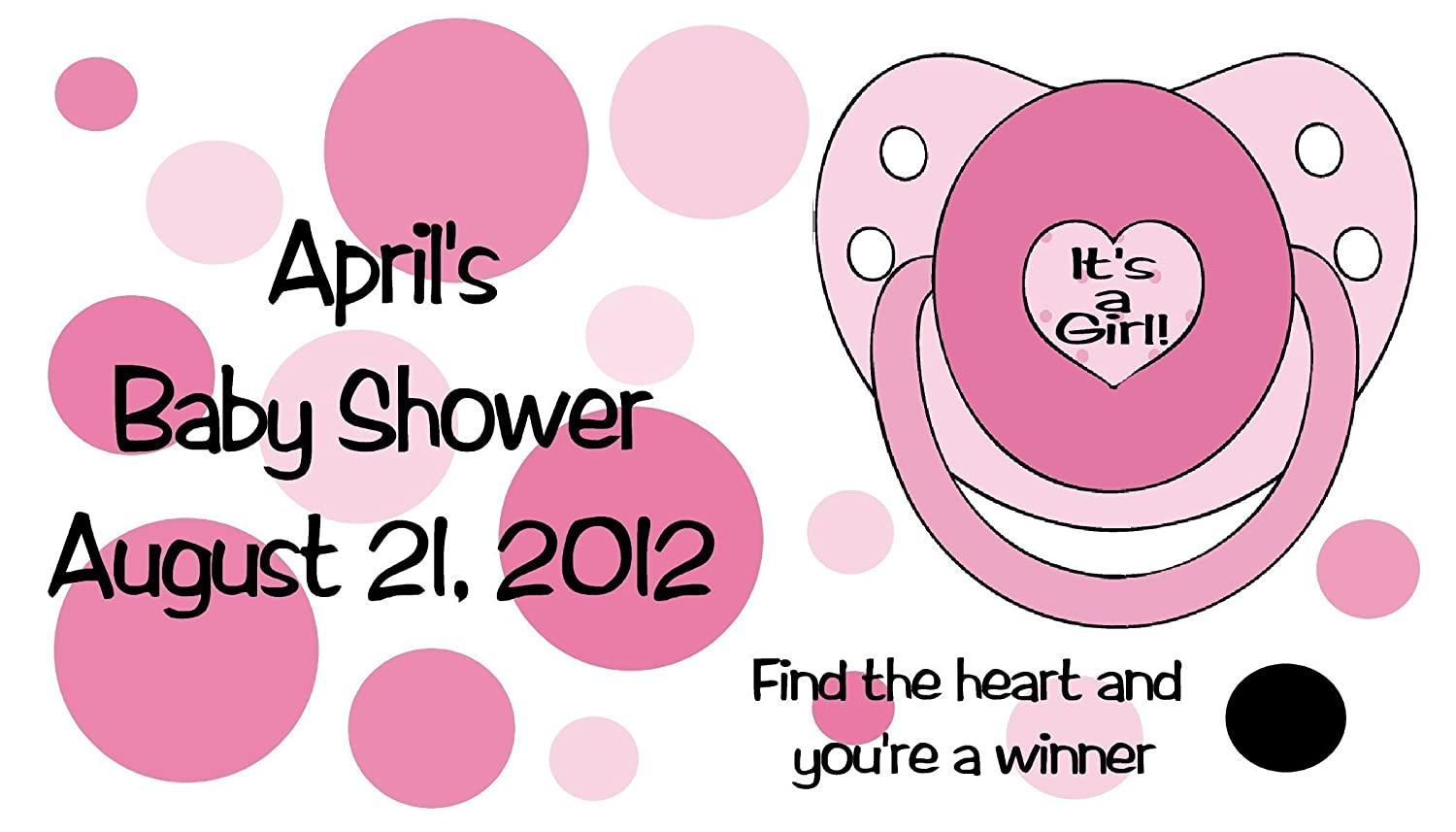 Amazon.com: Baby Shower Girl Polka Dot Scratch Off Game Cards 40 ...