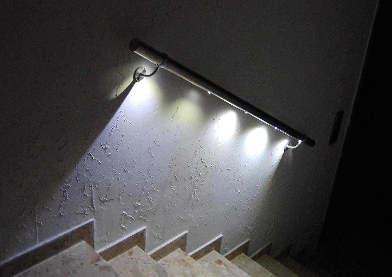 LED Edelstahl-Handlauf PiccoRail L= 3000mm gerade mit 2 Bewegungsmelder