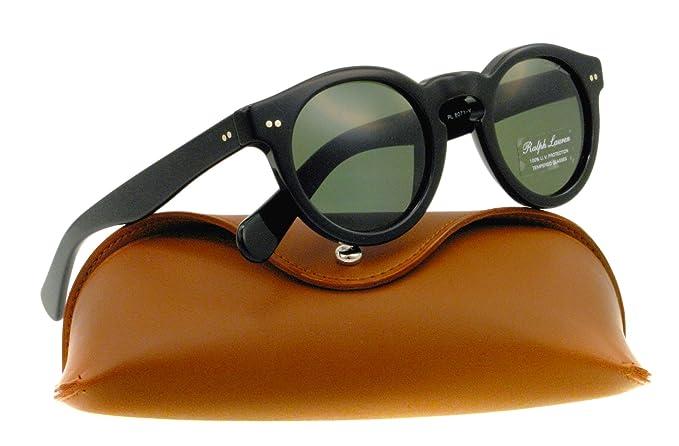 Amazon.com: Ralph Lauren rl8071 W anteojos de sol, negro, 46 ...