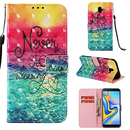 on sale b2d68 53816 Amazon.com: anzeal Samsung Galaxy J4 Case,PU Leather Wallet Case ...