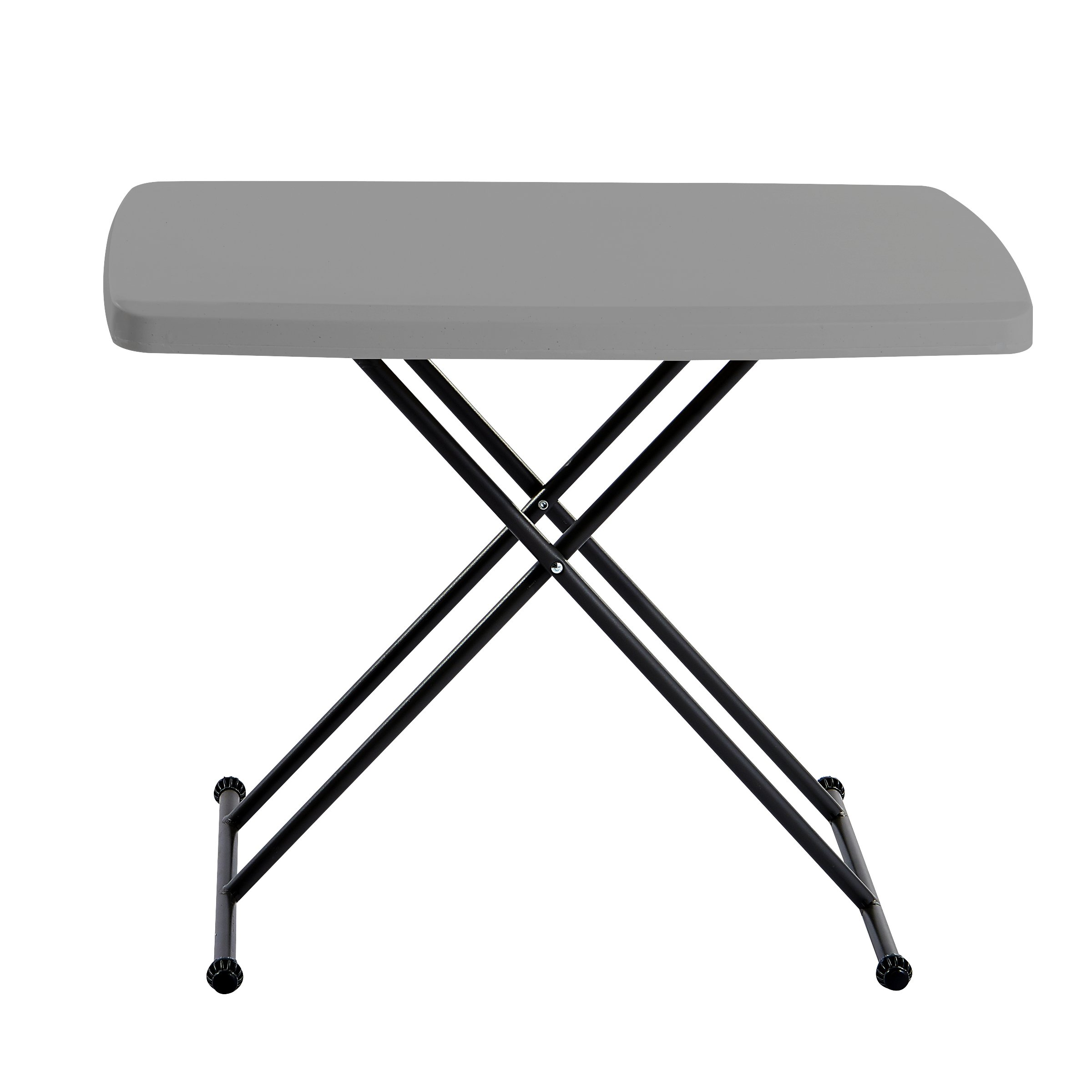 Iceberg 65491 Indestructible Too 1200 Series Resin Personal Folding Table 30 x 20 Charcoal by Iceberg