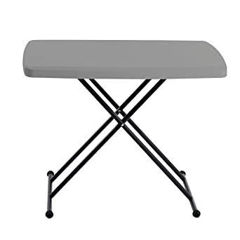 Iceberg 65491 IndestrucTable TOO Personal Folding Table, 20u0026quot;x30u0026quot;,  Charcoal (Made