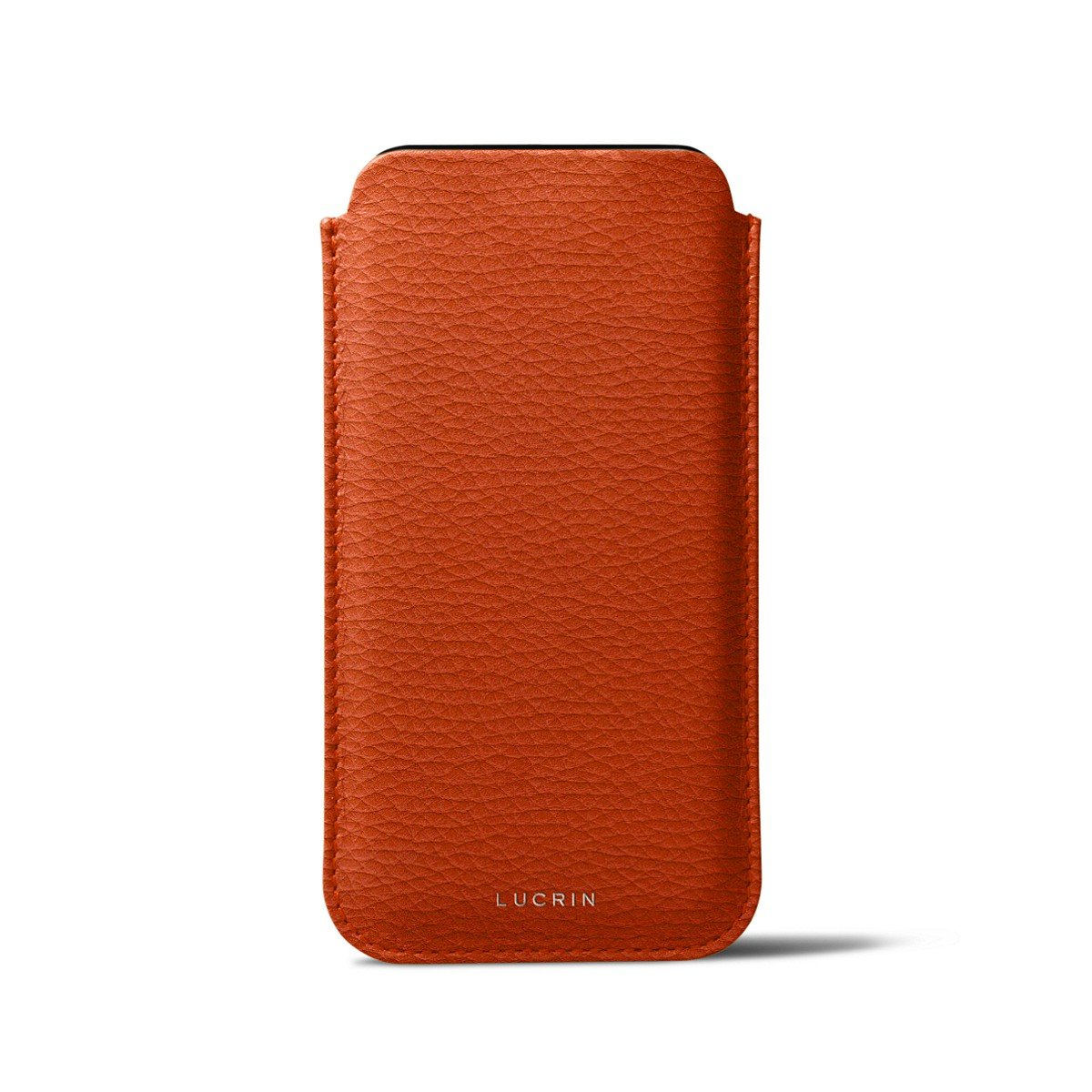 Lucrin - Classic Case for iPhone X - Orange - Granulated Leather by Lucrin (Image #3)