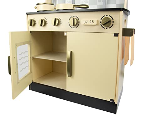 Cucina Per Bambini In Legno : Leomark cucina grande big vintage retro bianca giocattolo per