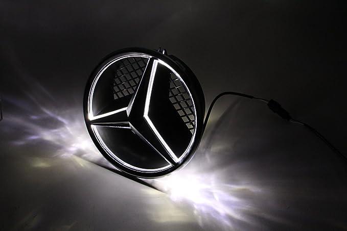 JetStyle Embl/ème LED pour Mercedes Benz 2005-2013 Anneaux Lumineux Logo Automatiquement Illumin/é Bagues /étoile DRL Lumi/ère de Jour Blanc Insigne sur La Grille Avant De La Voiture Grille Badge