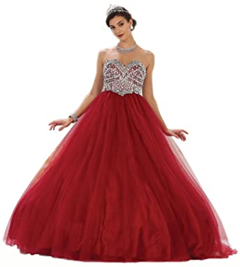 533ca14ff0 Amazon.com  Layla K LK70 Strapless Sweet 16 Ball Gown  Clothing