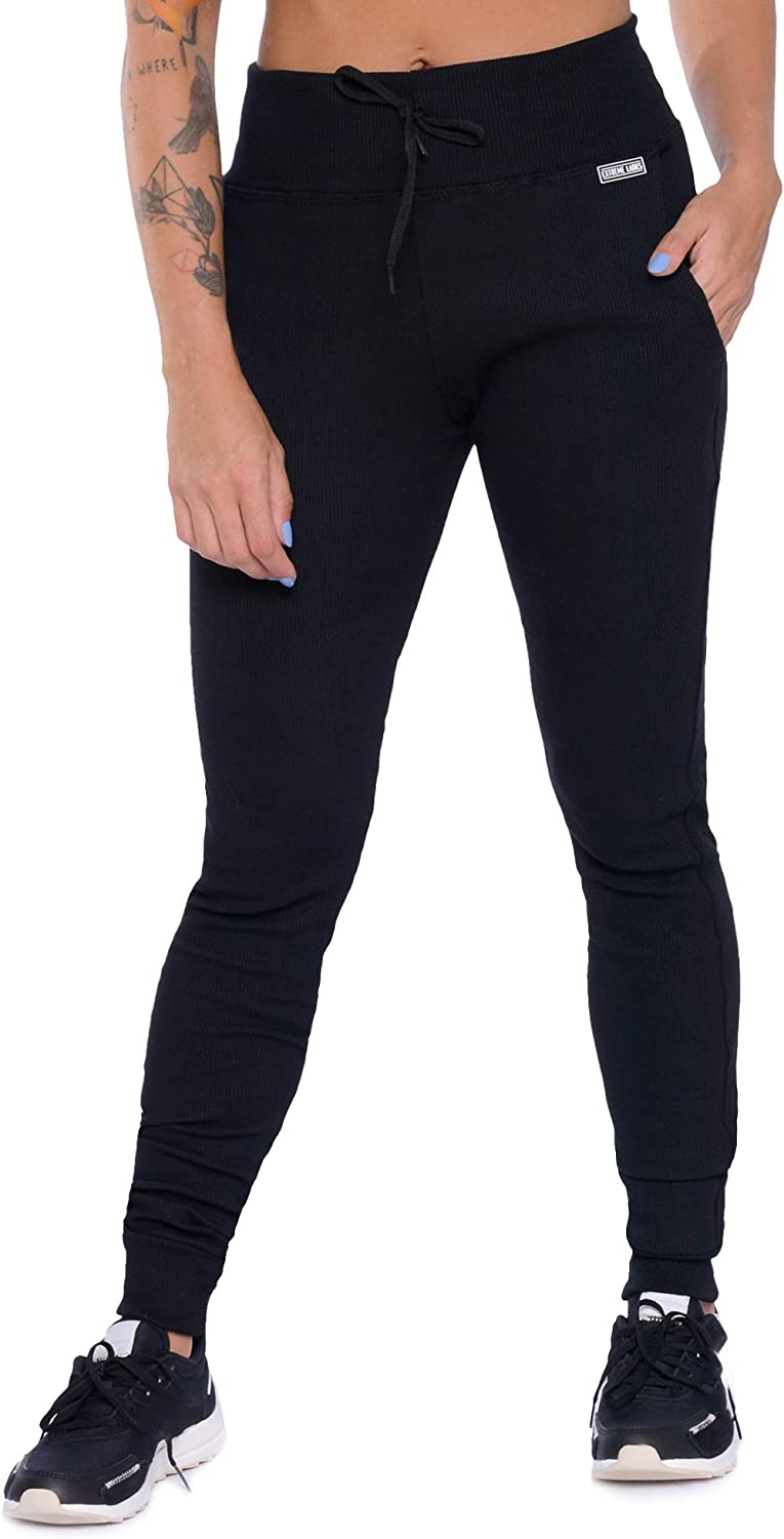 Extreme Ladies Sweatpants for Women - Weekend High Waisted Womens Sweatpants