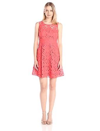 Coral Lace Dress