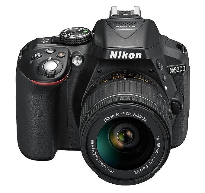Nikon D5300 Kit con objetivo AF-P 18-55mm VR - Cámara réflex digital de 24.2 Mp (pantalla 3.2