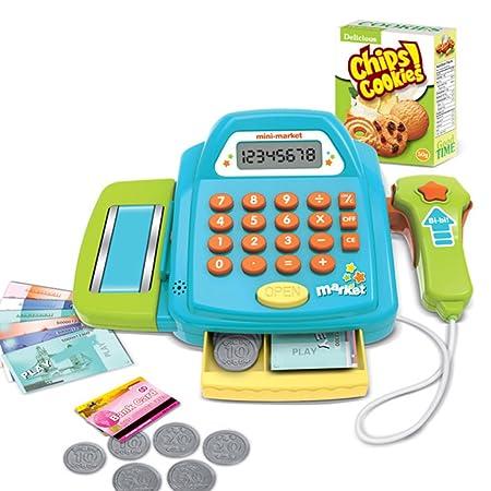 Winni43Julian Supermarktkasse Spielzeug , Registrierkasse Rollenspiel Spielzeug , Spiel Kassen für Kinder mit Scanner , Kaufl