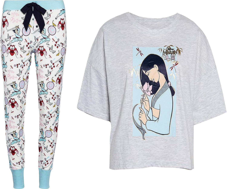 Disney Mulan - Conjunto de pijama para mujer y niña: Amazon ...