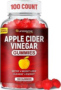 Apple Cider Vinegar Gummies with The Mother | Delicious Alternative to Apple Cider Vinegar Capsules & Apple Cider Vinegar Pills for Weight Loss | 100 Count Gluten-Free Organic Unfiltered ACV Gummies
