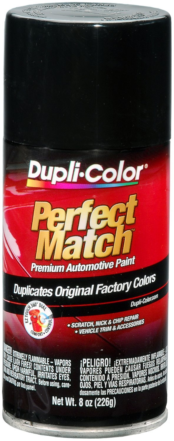 Dupli-Color BUN0100-6 PK (EBUN01007-6 PK) Universal Gloss Black Perfect Match Automotive Paint - 8 oz. Aerosol, (Case of 6)