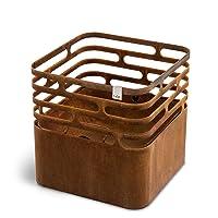 Designer Grill höfats Cube Corten kleiner bronze Stylegrill ✔ rund ✔ rostig (Edelrost)