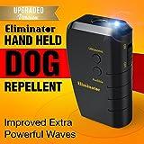 Eliminator Ultrasonic Dog Repellent & Trainer with Bright LED Flashlight / Powerful Dog Deterrent – Stops Barking + Good Behavior Dog Training [UPGRADED VERSION]