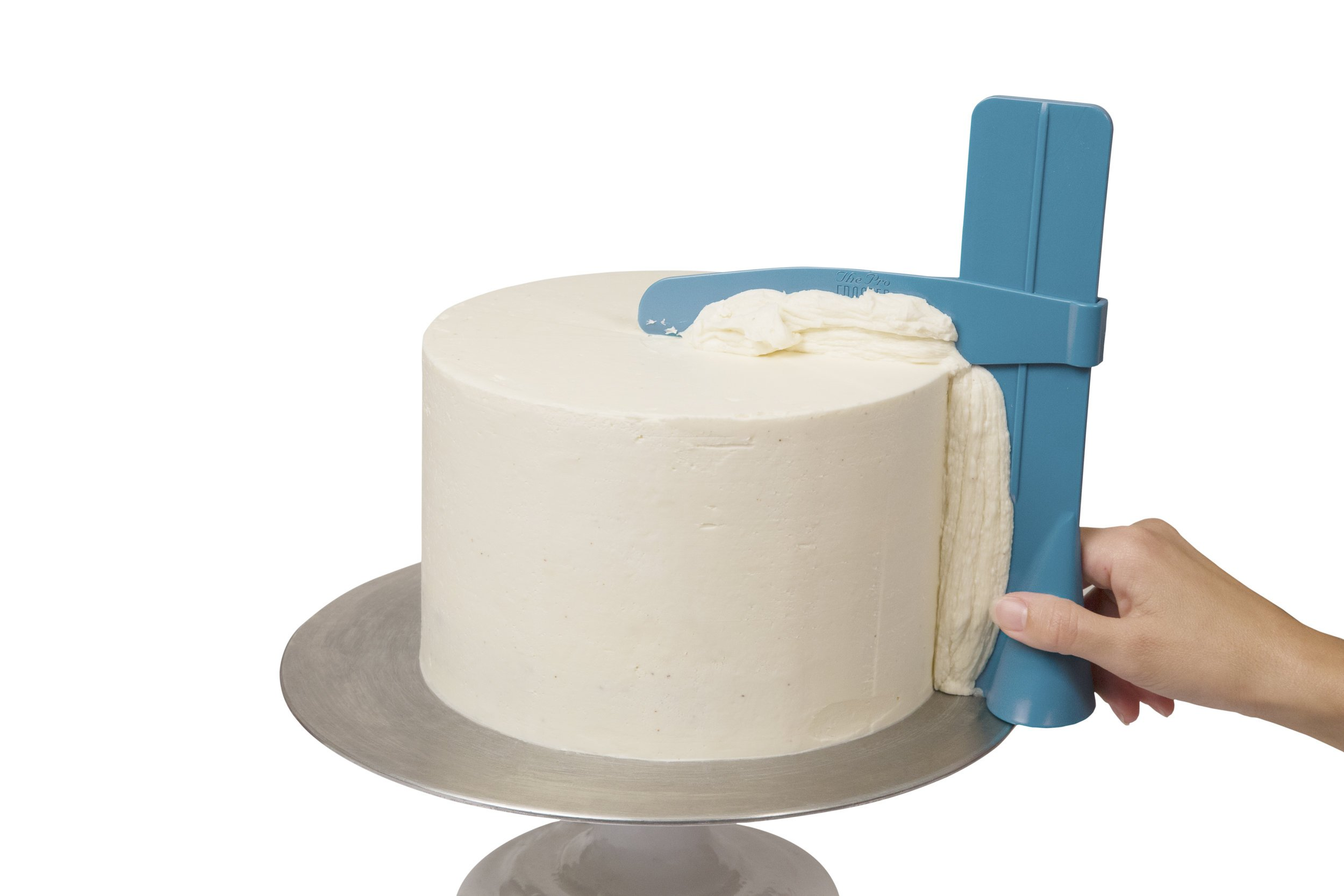 Adjustable Cake Smoother Scraper Polisher Frosting Spatula, Edge Side Cream Decorating Tool for Christmas Wedding Birthday Cakes