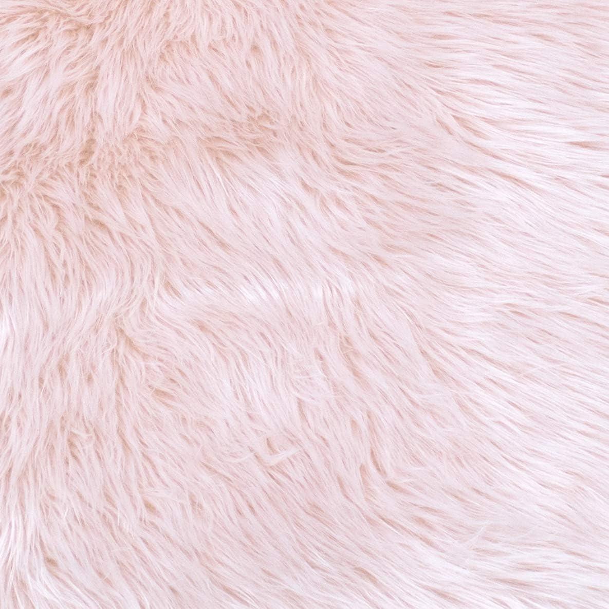 Als Faux Bett-Vorleger oder Matte f/ür Stuhl Sofa Teppich W/ölkchen Lammfell-Teppich Kunstfell Schaffell Imitat Wohnzimmer Schlafzimmer Kinderzimmer Rosa Ros/é - 55 x 80 cm