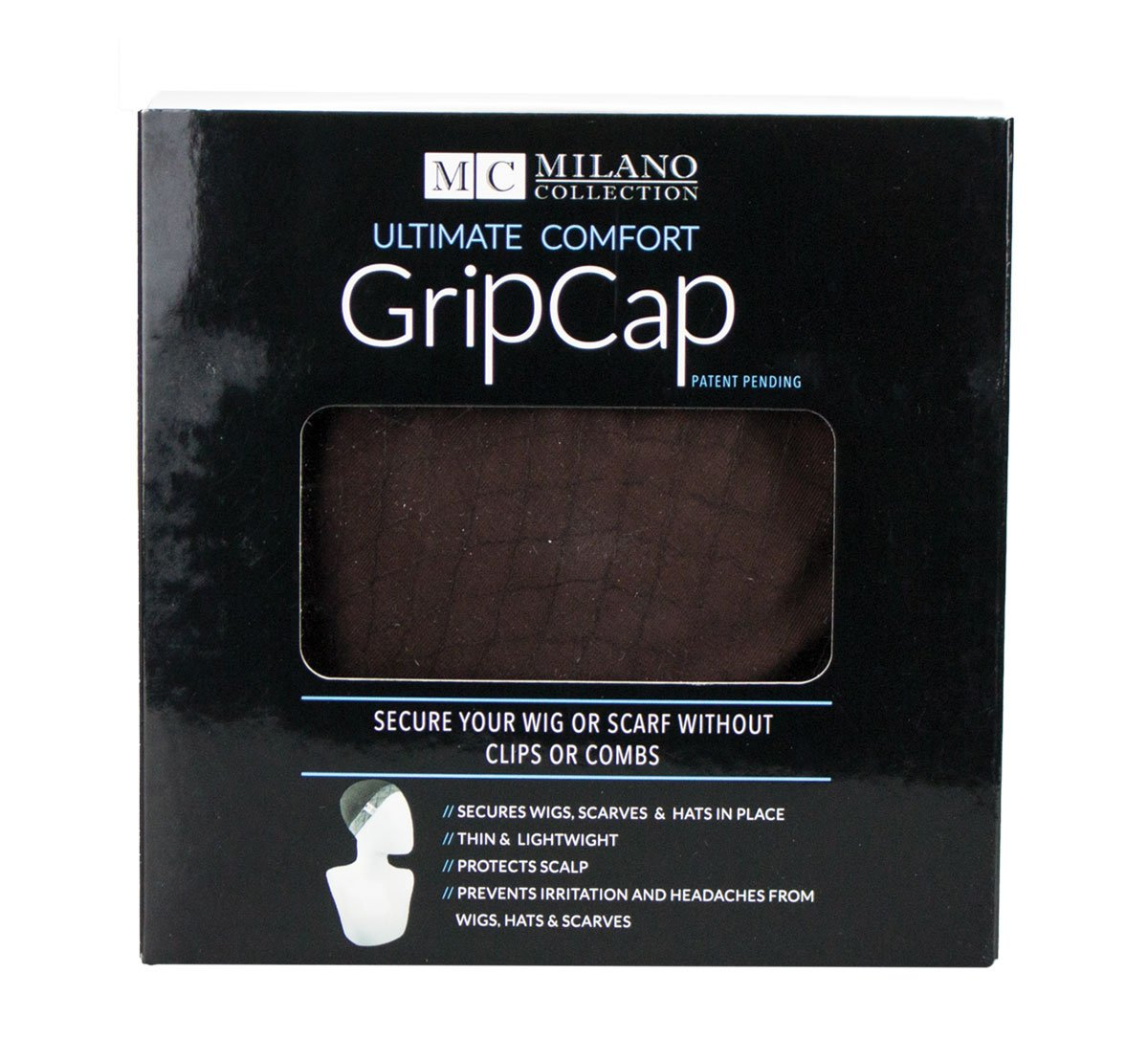 Milano Collection GripCap All in One WiGrip Comfort Band & Wig Cap in Brown by MILANO COLLECTION (Image #3)